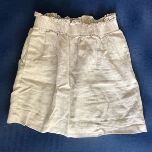 J. Crew Cotton-Linen Sidewalk Skirt